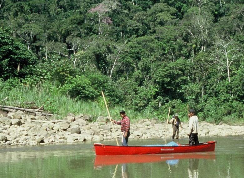 Poling Canoe